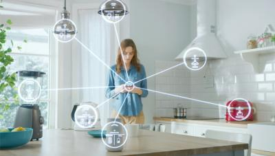 Illustration of smart energy at home